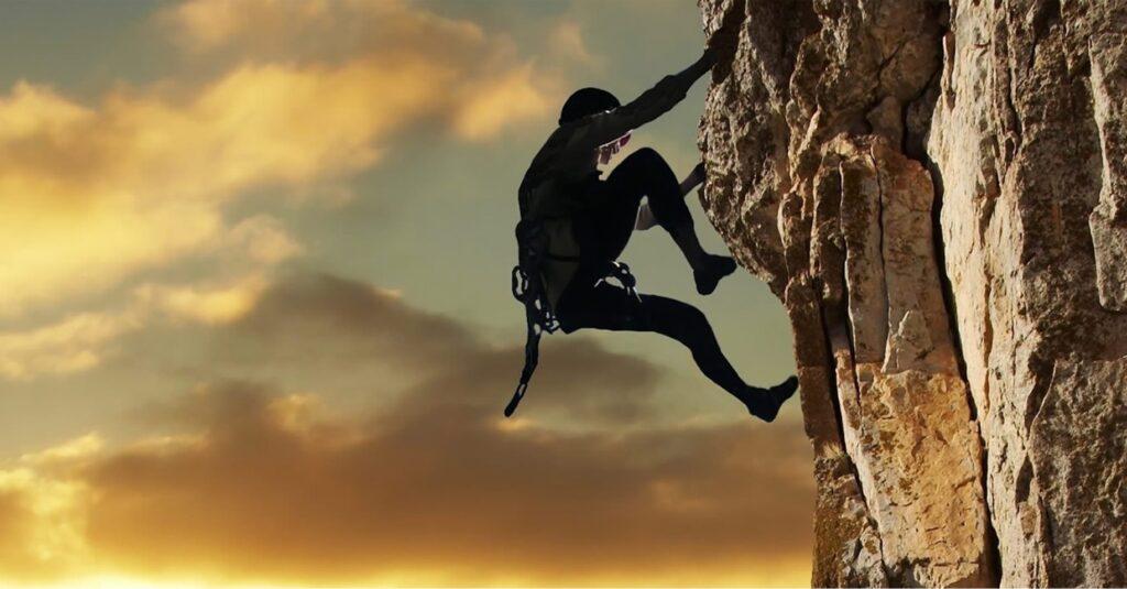 Wat is het risico van vallen, als je 100% zeker bent gezekerd?